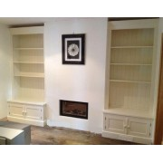 Fitted Alcove Unit With A Deeper 2 Door Base.