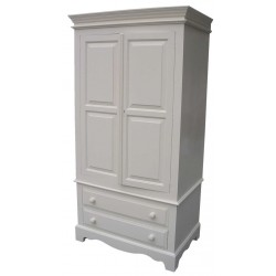 Traditional Double Drawer Single Wardrobe