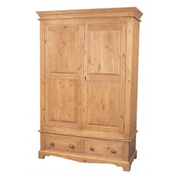 Traditional Double Two Drawer Wardrobe