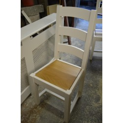 Shaker Ladder Back Wooden Seat Chair