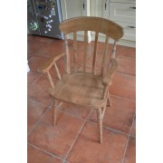 Heavy Slat Back Carver Chair