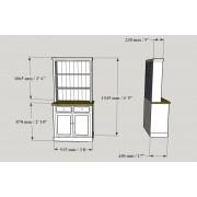 Kitchen Dresser 3' /92 cm Dimensions