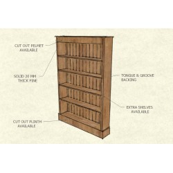 Bookshelf Plain 6 X 4