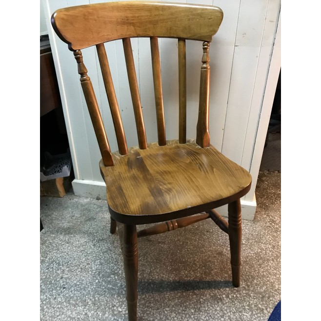 Wide Seat Lath Back Chair