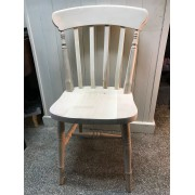 Wide Seat Lath Back Chair - Combo Finish