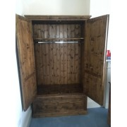 Traditional Double Drawer Wardrobe
