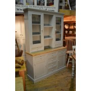Half Glazed Doors above Drawers Dresser - Painted