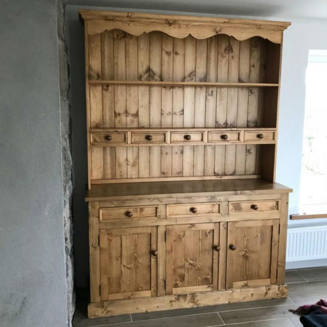 Spice Drawer Dresser Stained Mid Oak