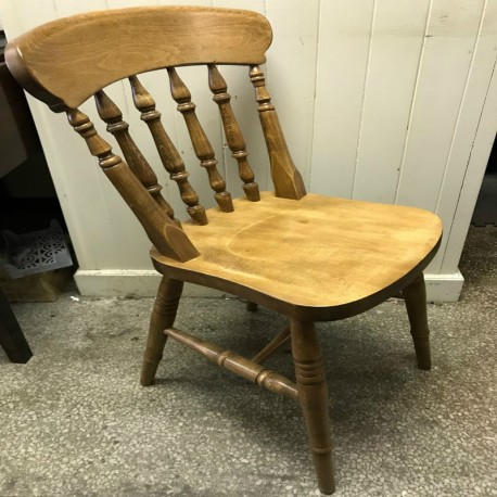 Wide Seat Spindle Back Chair