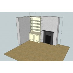 4ft \ 120 cm fitted Alcove Unit With 2 door Base